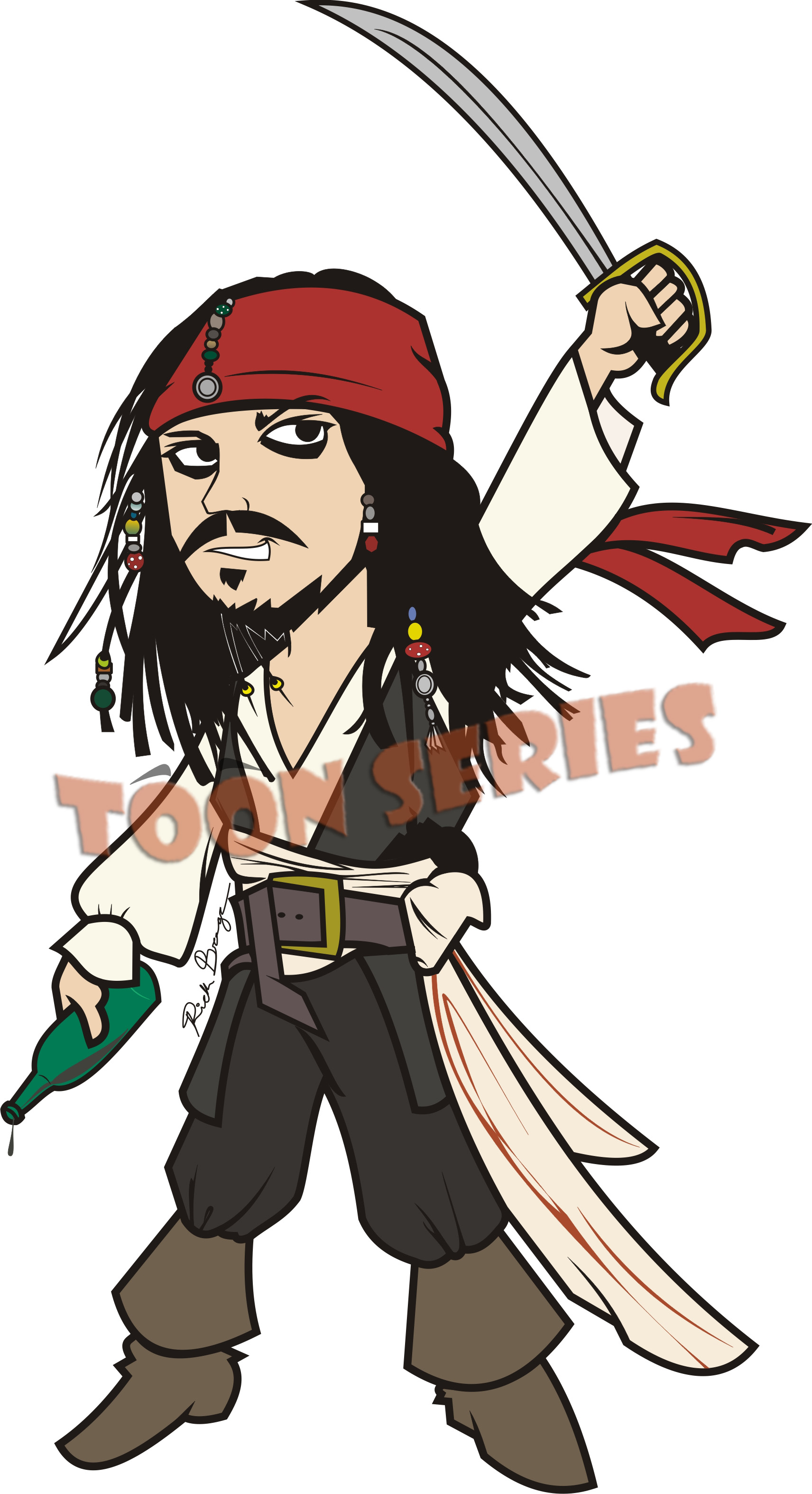 Captain Jack Sparrow by toonseries on DeviantArt
