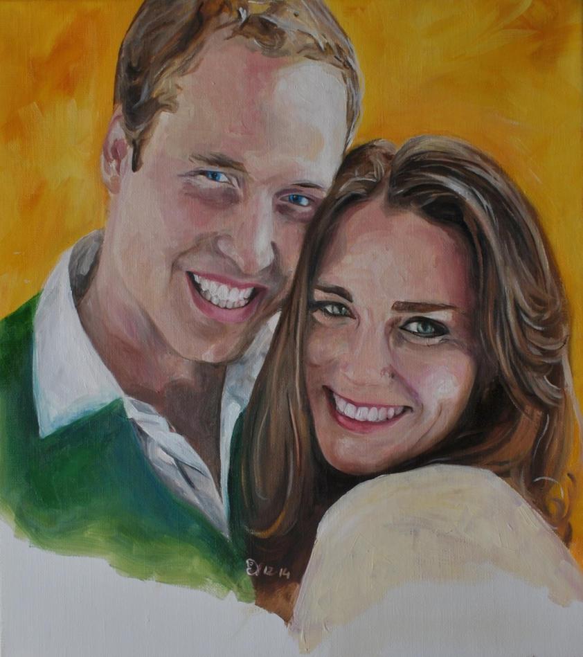 Duke and Duchess of Cambridge by EvelineVdp