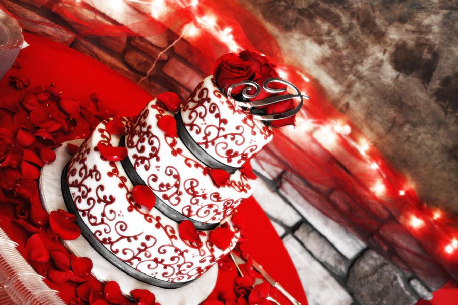 Red Velvet Wedding Cake By Jessicandixon