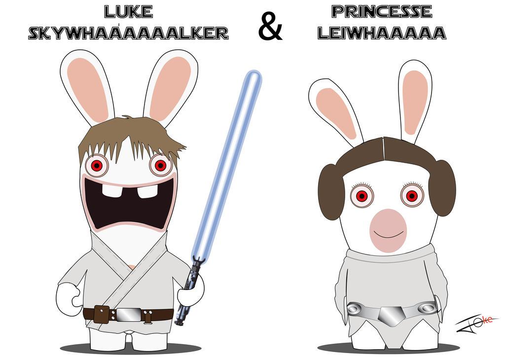 Bevorzugt Lapin Cretin Star Wars Luke-Leia by Jo-ke on DeviantArt EG15