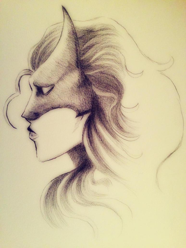 Batwoman Pencil Sketch by Paizy