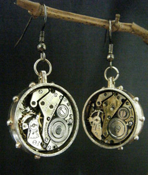 Steampunk Earrings by lilvoodoo