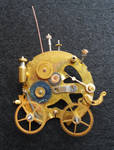 Steampunk carriage brooch
