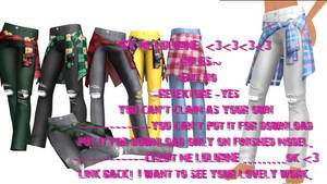 Boys Pants p5 i think (sims / mmd) dl