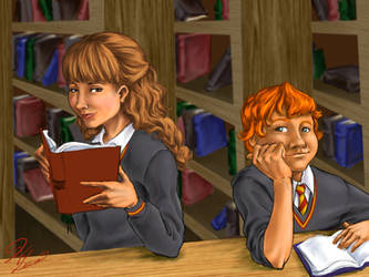 Magic in the Library by hanime