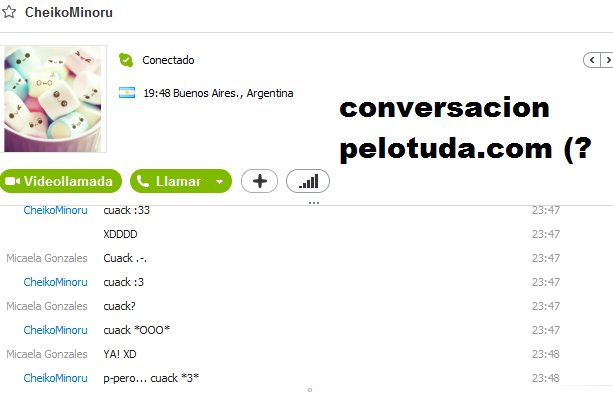 Conversacion Pelotuda.com by BekaChan11