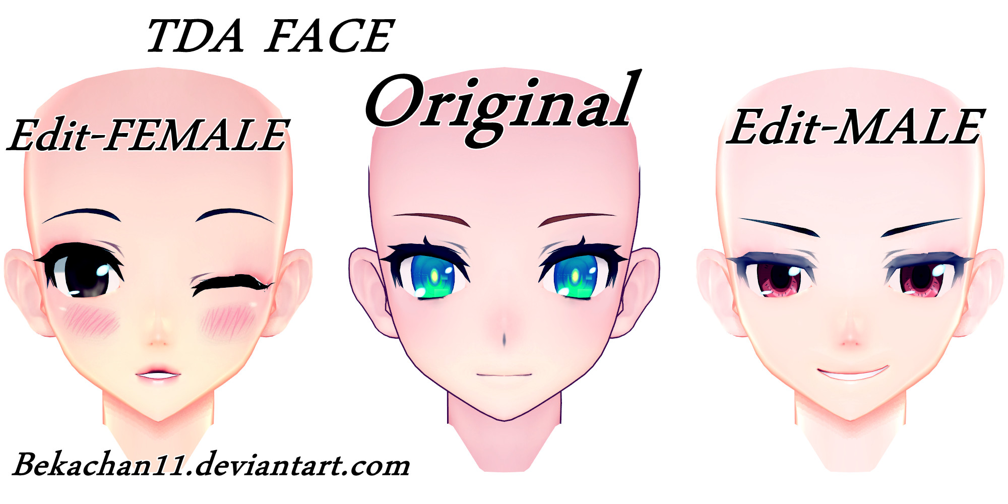 Mmdxedit Face Tda Mixto By Bekachan11 Deviantart – Wonderful