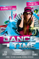 Dance Time Party Flyer Template