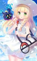 Lillie and Cosmog - Pokemon Sun/Moon