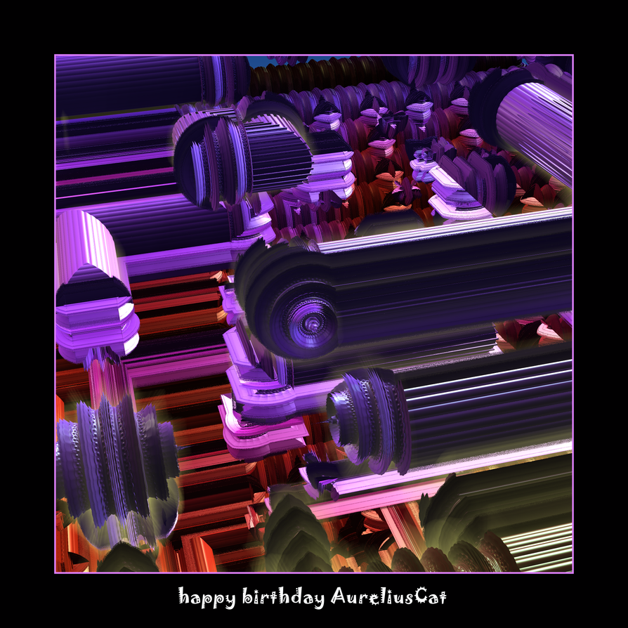 happy birthday AureliusCat by fraterchaos