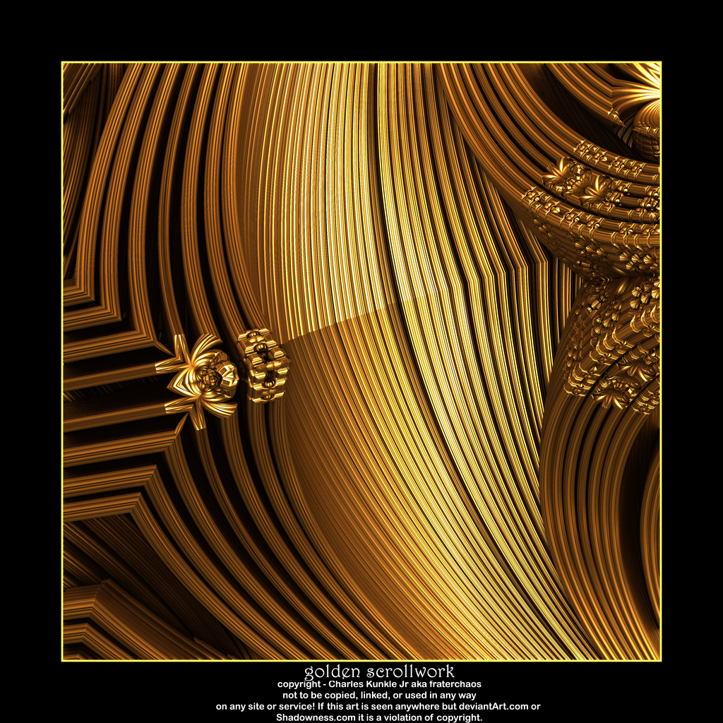 golden scrollwork by fraterchaos