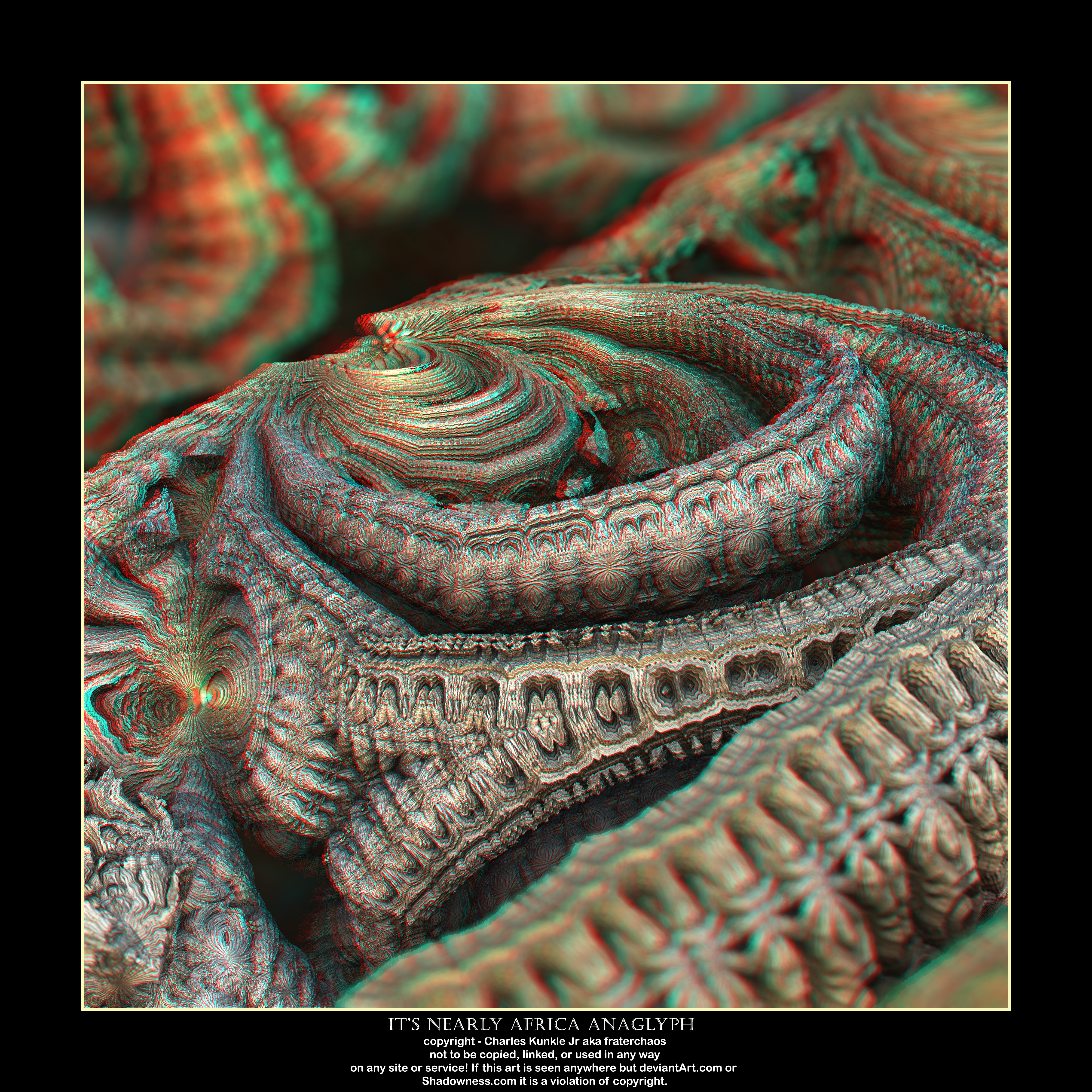 it's nearly africa anaglyph by fraterchaos