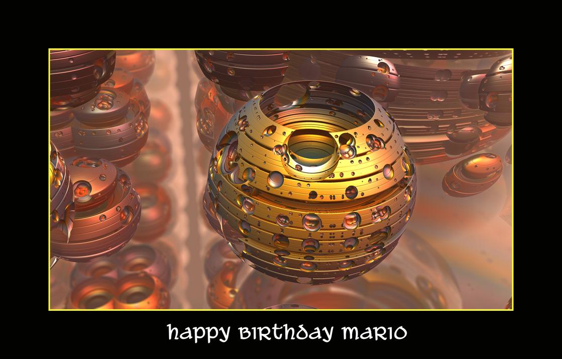 happy birthday Mario by fraterchaos