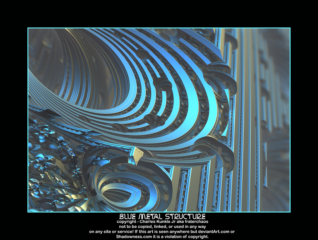 blue metal structure by fraterchaos