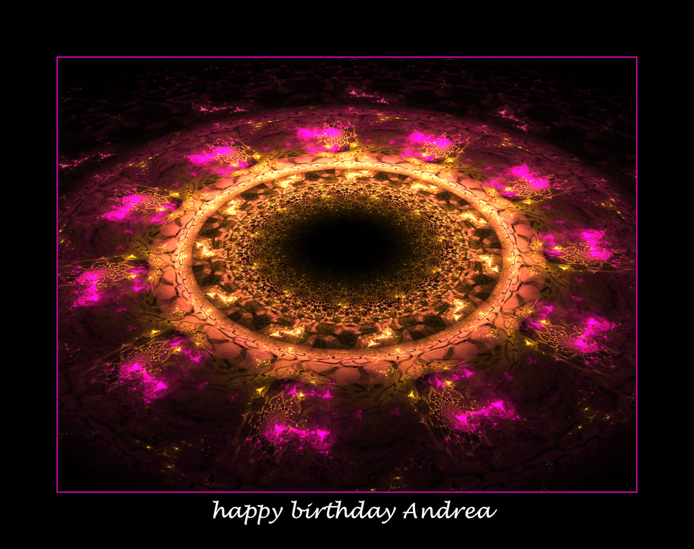 happy birthday Andrea by fraterchaos