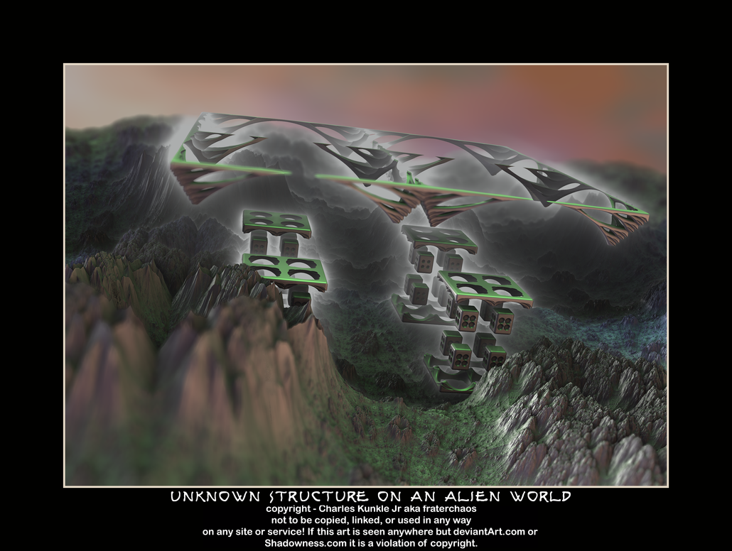 unknown structure on an alien world by fraterchaos
