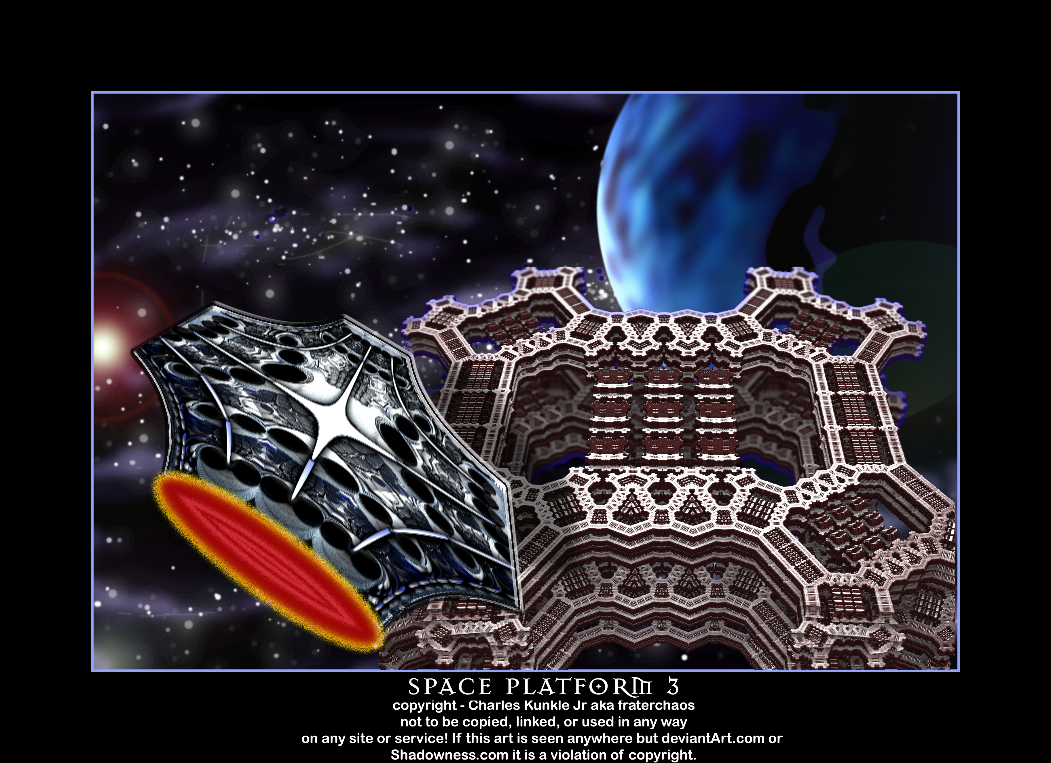 space platform 3 by fraterchaos
