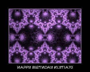 happy birthday Klytia70 by fraterchaos