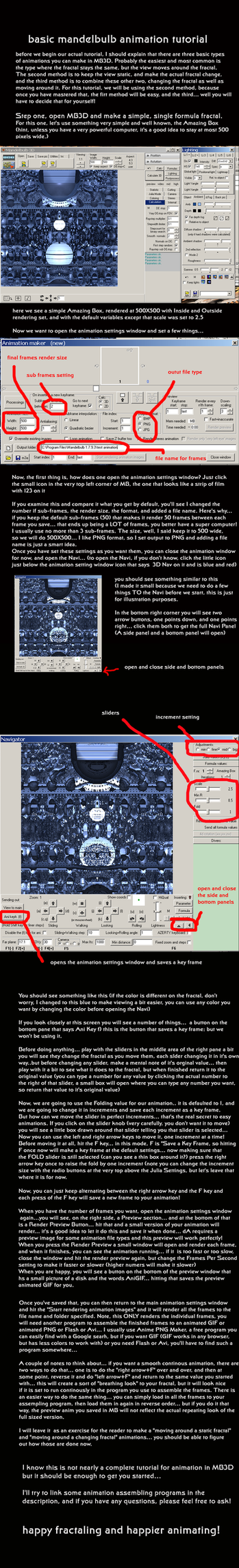 basic Mandelbulb Animation Tutorial by fraterchaos