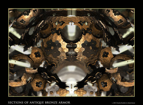 sections of antique bronze armor