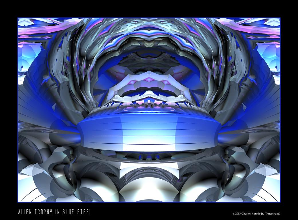 alien trophy in blue steel by fraterchaos