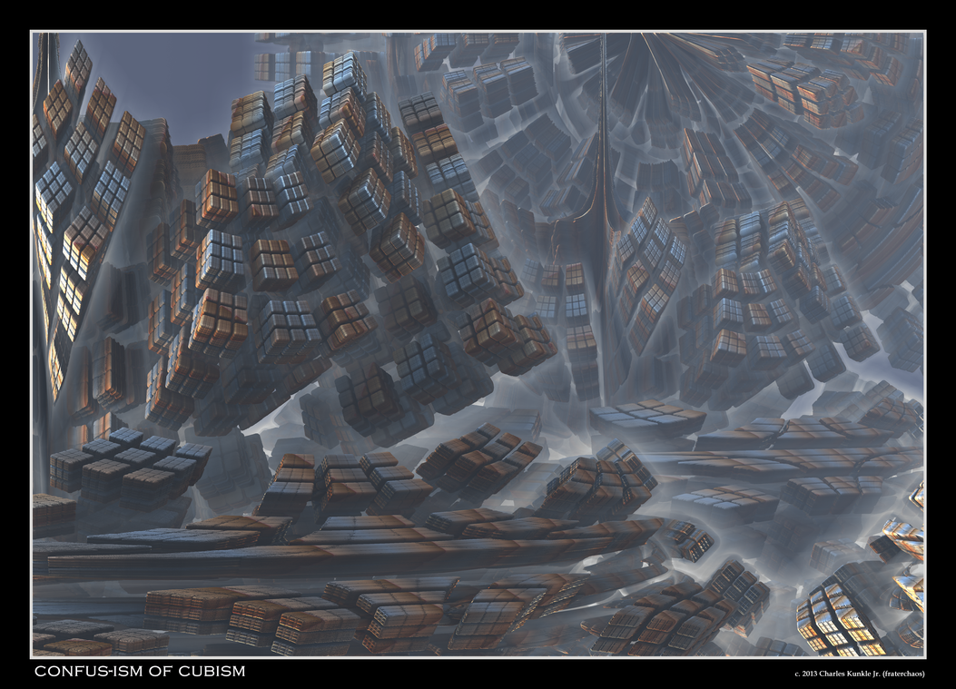 confus-ism of cubism = 8th Mandelbulb Teaser #2 by fraterchaos