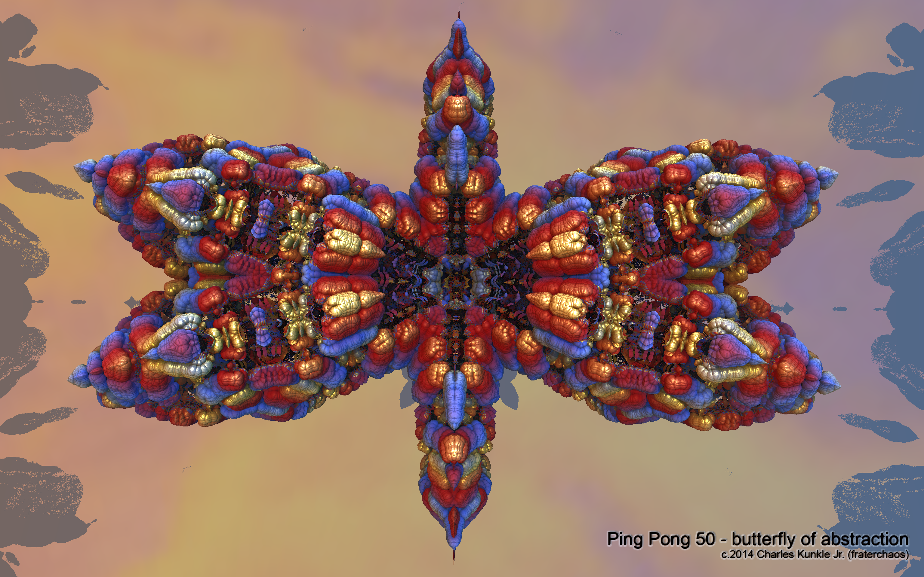 Ping Pong 50 - butterfly of abstraction by fraterchaos