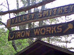 blacksmith shop sign by fraterchaos