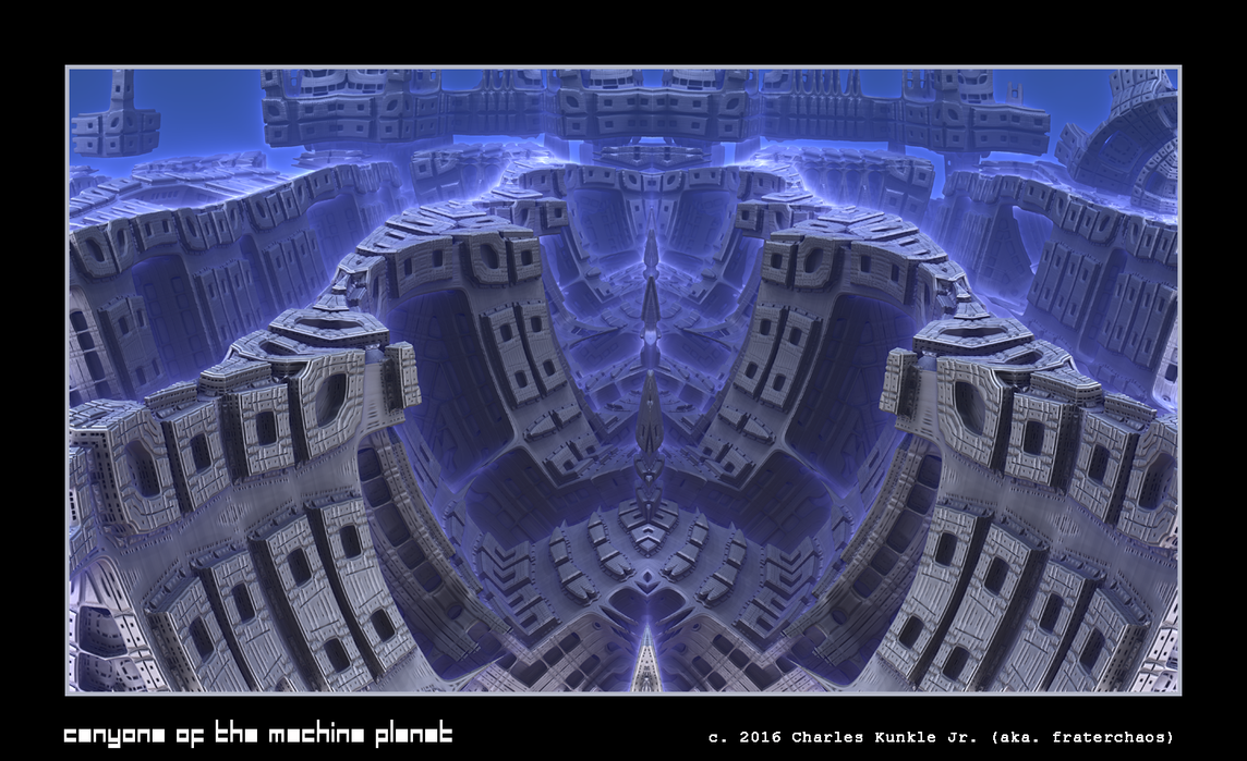 canyons of the machine planet by fraterchaos
