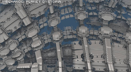 mechanoid planet dystopia by fraterchaos