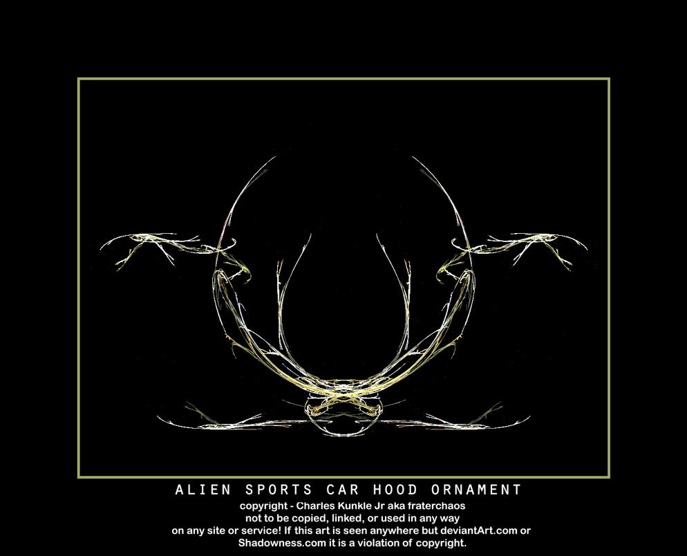 Cool hood ornaments - Alien Sports Car Hood Ornament By Fraterchaos