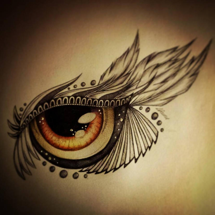 Brown eye tattoo design by slightlyannoyed cake on deviantart for Eye tattoo art