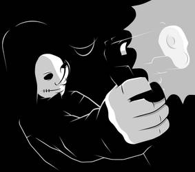 Hollow Girl opens fire by Midwinter-Creations