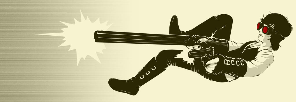 Pippa - two guns by Midwinter-Creations