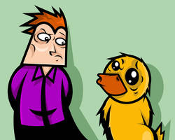 Rob and Ducky by Midwinter-Creations