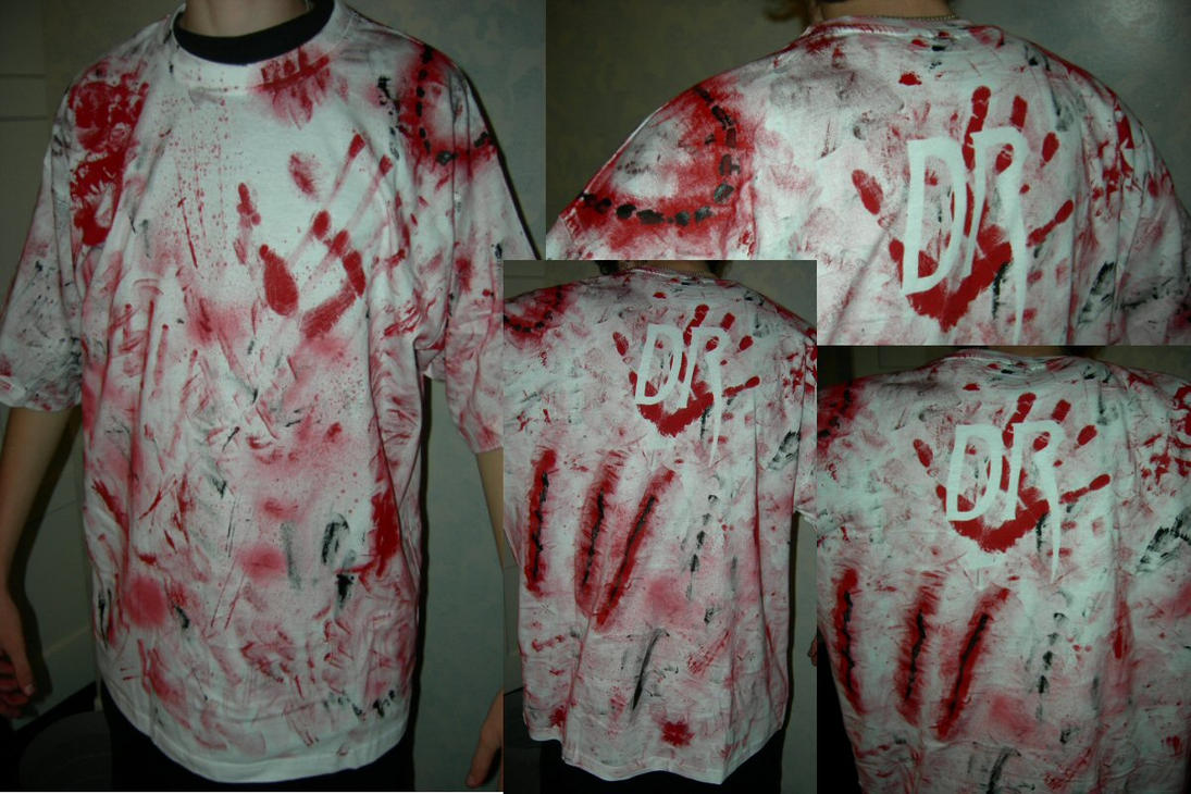 Zombie t shirt 2 by evildan on deviantart for How to whiten shirts