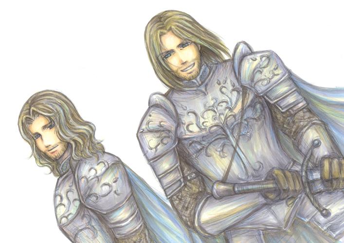 Boromir and Faramir by hashibayuya