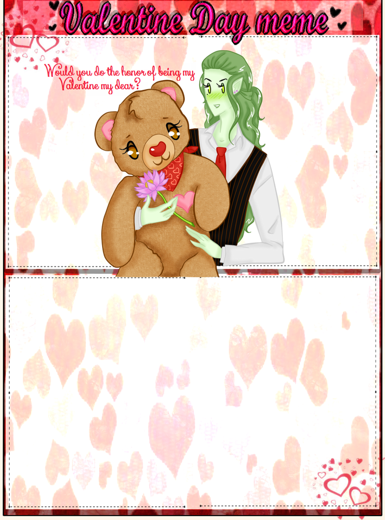 Valentines Day Meme LPP by Ask-LillyPond-Prince