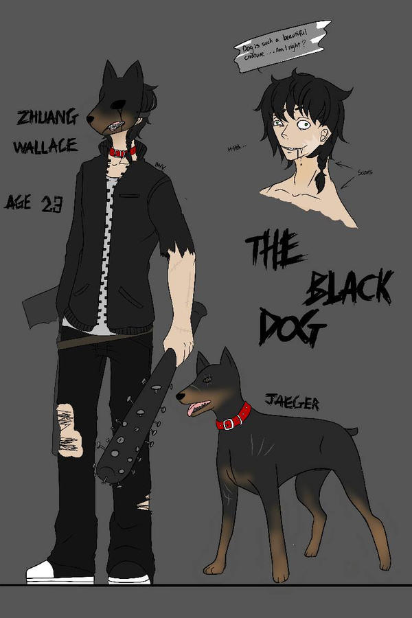 new oc the black dog creepypasta oc by
