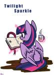 Twilight Sparkle read a book