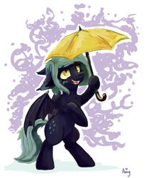 The pony with umbrella by Amy-Gamy