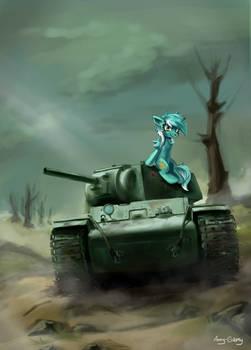 Pony on the tank