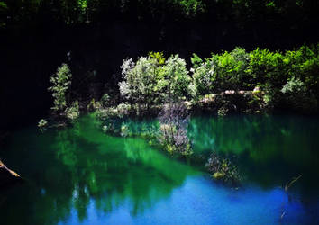 The green-blue lagoon