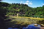 Hidden quarry lake