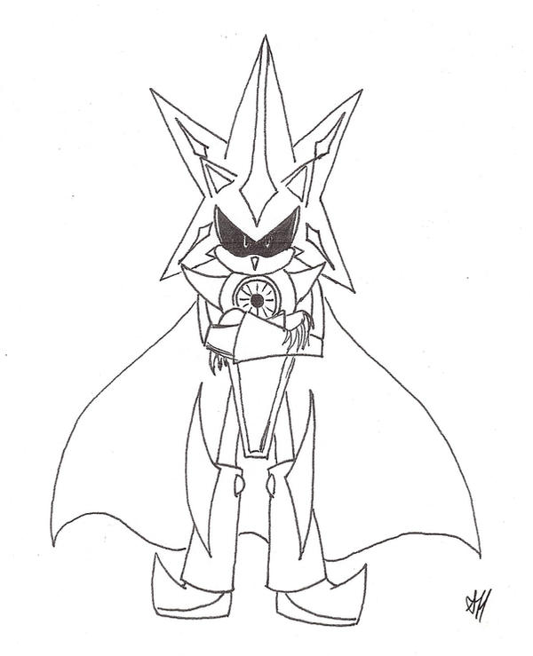 Neo Metal Sonic Coloring Pages | Coloring Page