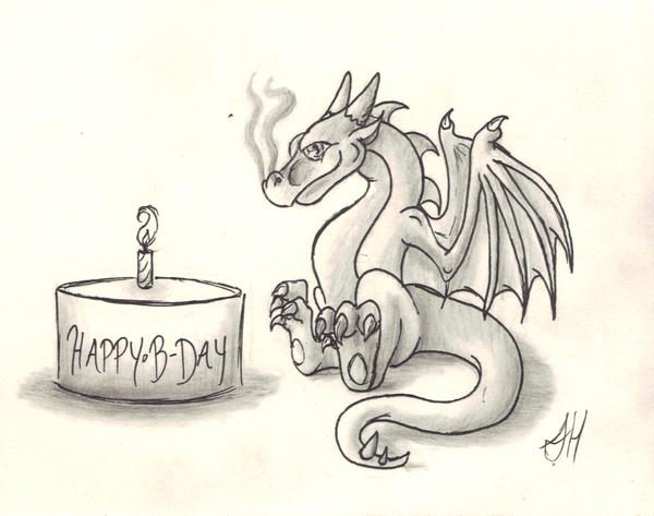 Baby Wyvern's First Birthday by WyvernFlames