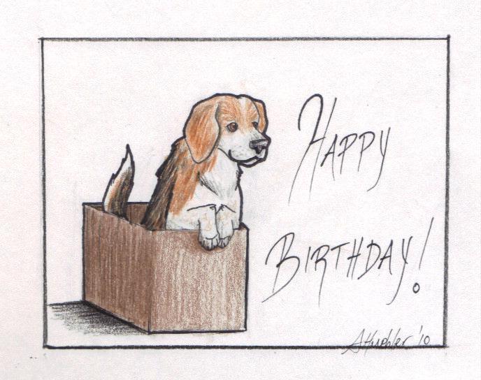 birthday beagle by wyvernflames on deviantart, Birthday card
