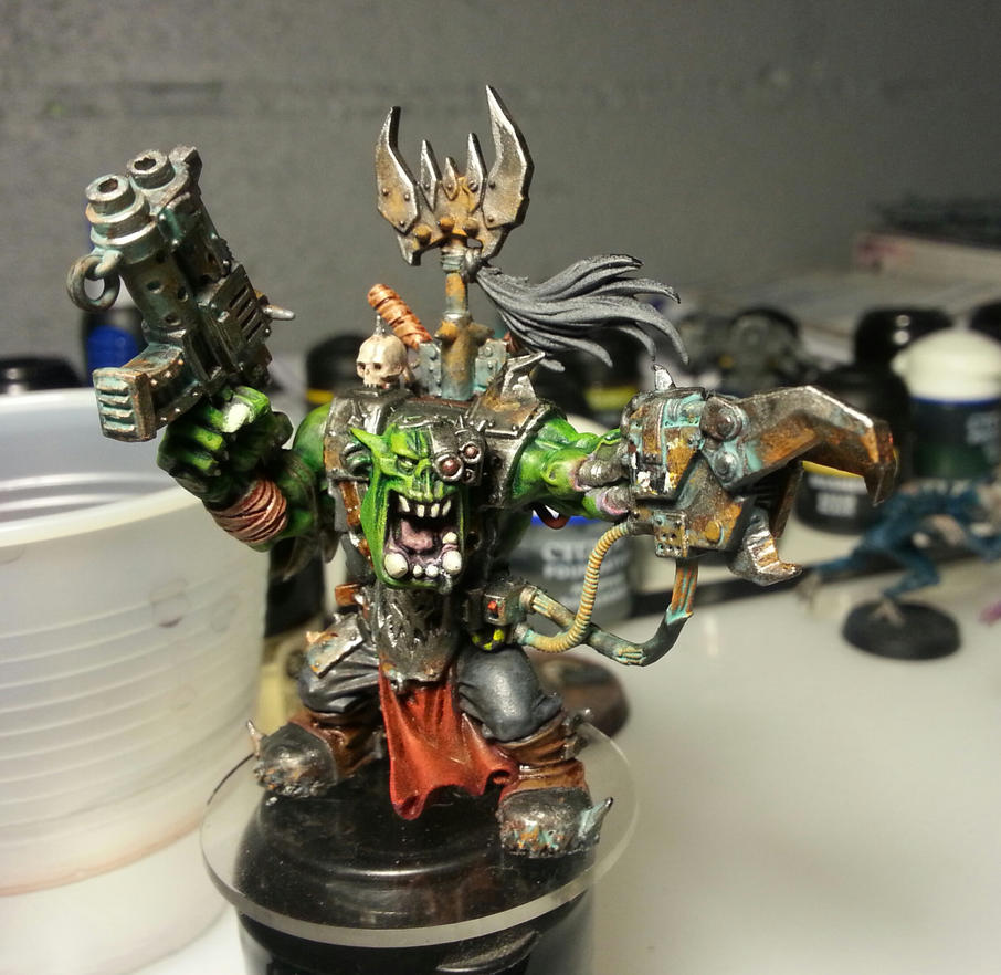 ork warboss wip by evldemon