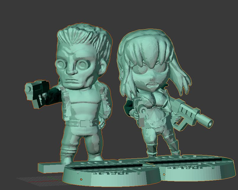 Cyberpunk duo by evldemon