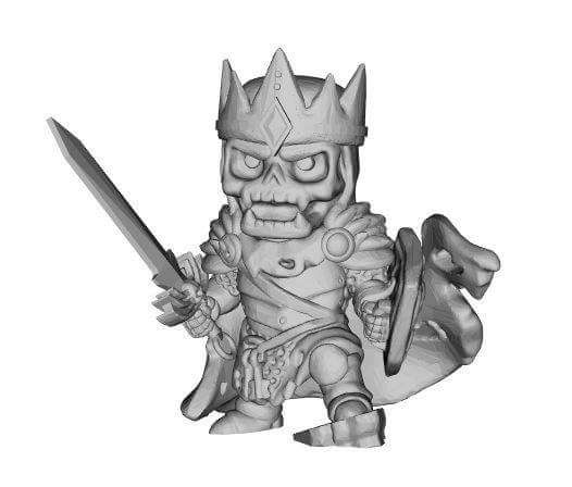 Chibi Undead King by evldemon
